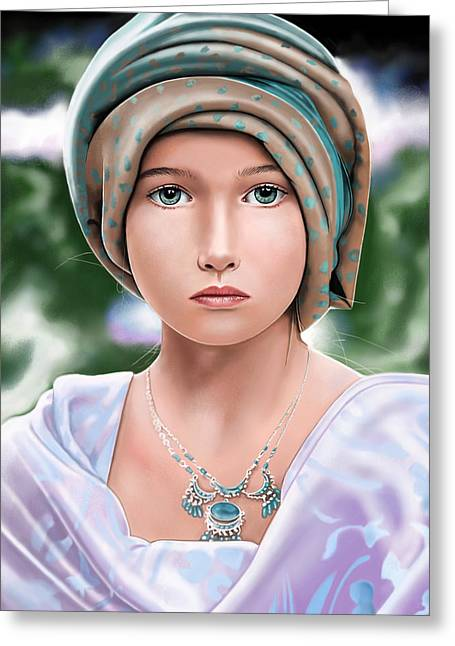 Girl With A Pearl Earring Greeting Cards - Let The Light Shine Greeting Card by Andrew Harrison