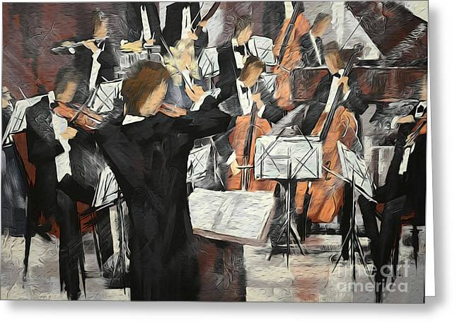 Let The Music Play Greeting Card by David Bearden