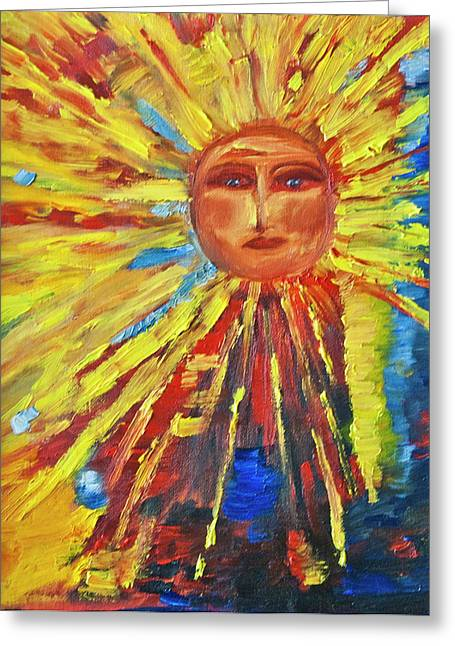 Sun Rays Paintings Greeting Cards - Let the Sun Shine Greeting Card by Debbie Weibler