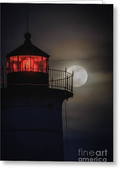 Cape Neddick Lighthouse Greeting Cards - Let the Tetrad Begin Greeting Card by Scott Thorp
