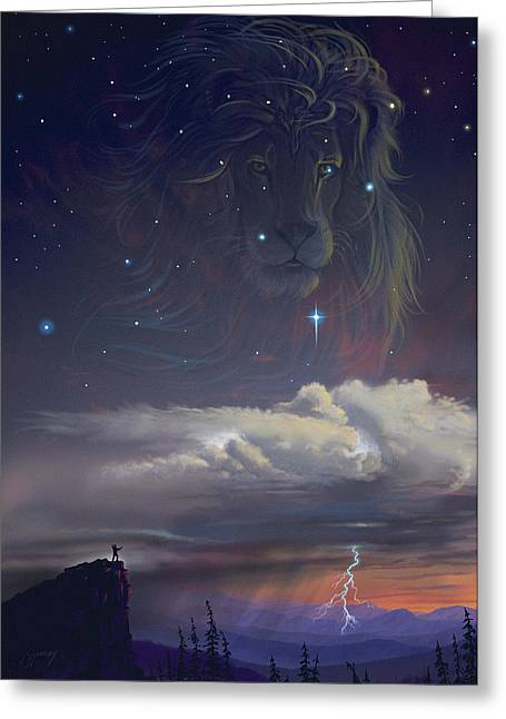 Fear Digital Greeting Cards - Let The Wind Blow Greeting Card by Cliff Hawley