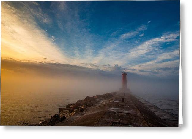 Breakwater Greeting Cards - Let There Be Light Greeting Card by Daniel Chen