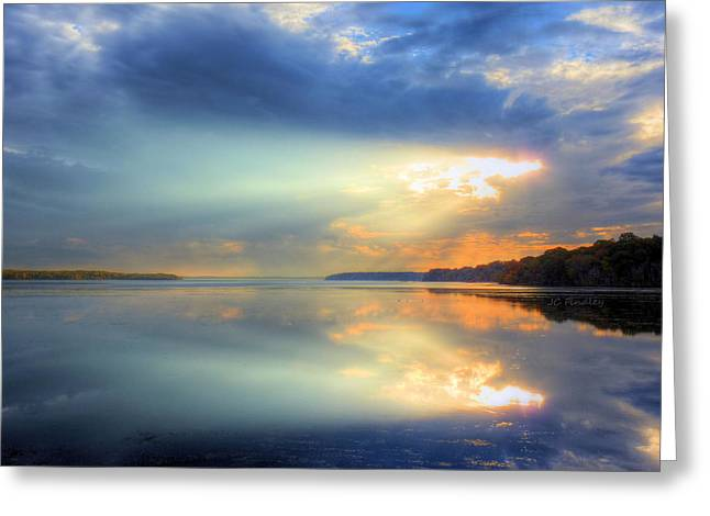 Let There Be Light Greeting Card by JC Findley