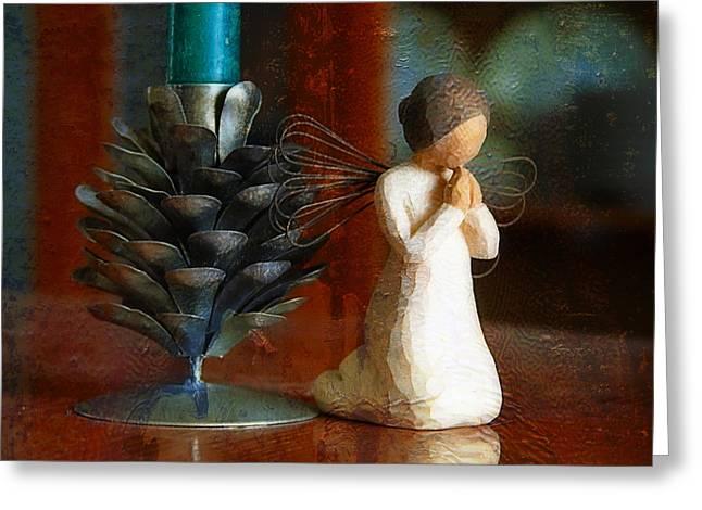 Joan Bertucci Greeting Cards - Let Us Pray Greeting Card by Joan Bertucci