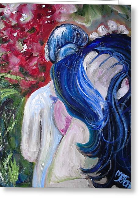 Let Your Hair Down Greeting Card by Melissa Torres