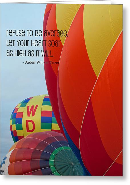 Hot Air Balloon Mixed Media Greeting Cards - Let Your Heart Soar Greeting Card by Bonnie Bruno