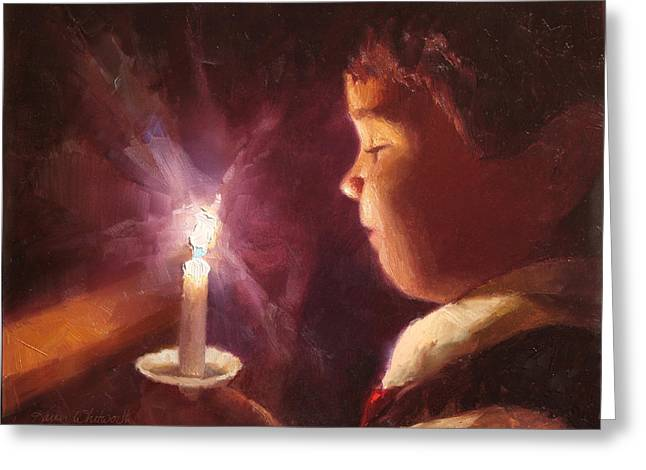 Let Your Light Shine 2 Greeting Card by Karen Whitworth