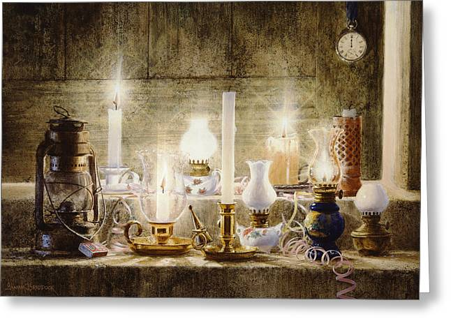 Candle Lit Paintings Greeting Cards - Let Your Light Shine Greeting Card by Graham Braddock