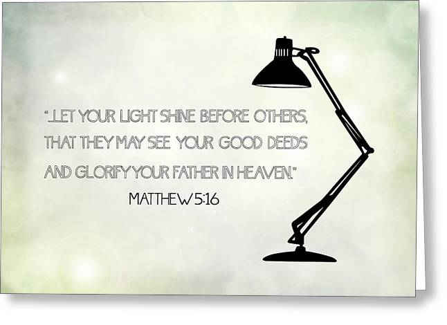 Glorify Greeting Cards - Let Your Light Shine Greeting Card by Nancy Ingersoll