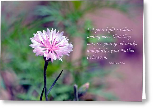 Let Your Light So Shine Greeting Card by Deena Stoddard