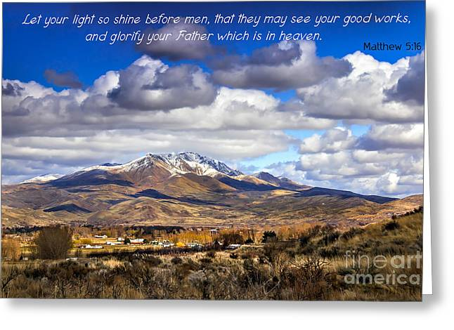 Scripture Cards Greeting Cards - Let Your Light So Shine Greeting Card by Robert Bales