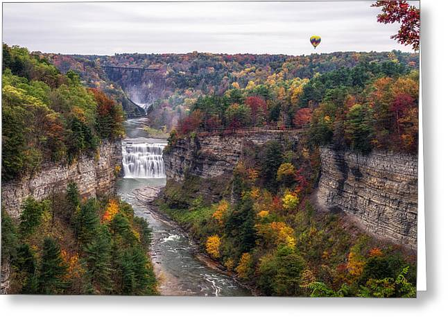 Abyss Greeting Cards - Letchworth Middle Falls Greeting Card by Mark Papke
