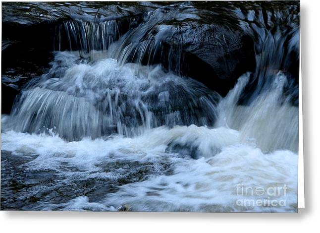 Letchworth State Park Genesee River Cascades Greeting Card by Rose Santuci-Sofranko