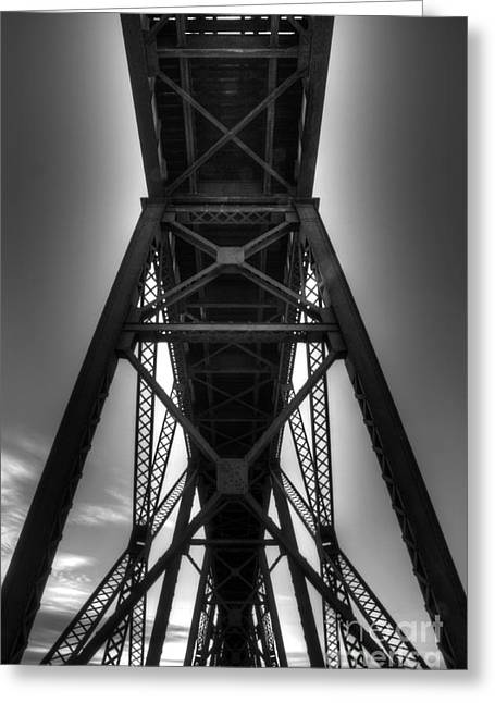 Lethbridge High Level Bridge 4 Greeting Card by Bob Christopher