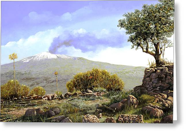l'Etna  Greeting Card by Guido Borelli