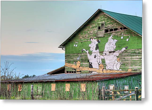 Barn Dance Greeting Cards - Lets Dance Greeting Card by JC Findley