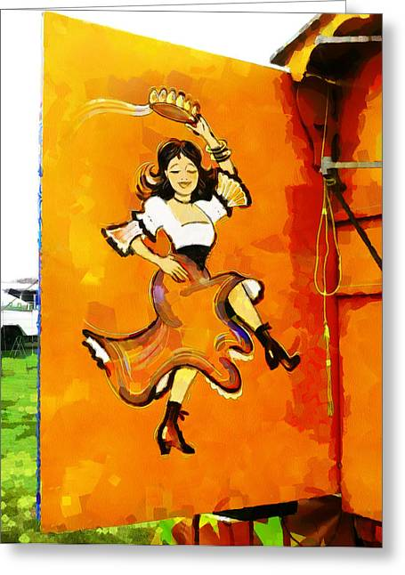 Ruffled Skirt Greeting Cards - Lets Dance Greeting Card by Steve Taylor