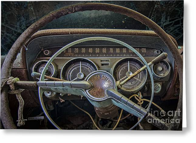 Sixties Style Automobile Greeting Cards - Lets Drive Greeting Card by Ken Johnson