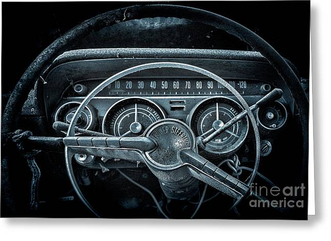 Sixties Style Automobile Greeting Cards - Lets Drive   Moon Glow Greeting Card by Ken Johnson