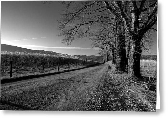 Mountain Road Greeting Cards - Lets Go Exploring Greeting Card by Michael Eingle