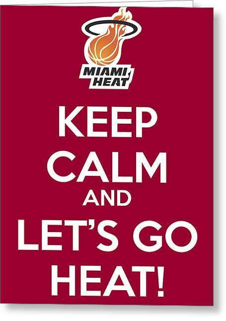 Let's Go Heat Poster Greeting Card by Florian Rodarte