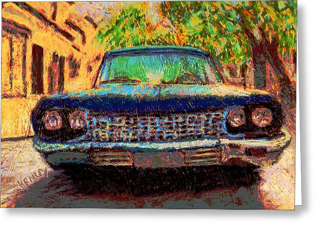 Headlight Pastels Greeting Cards - Lets Go Greeting Card by Shalene Henley