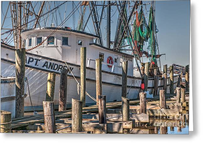 Shrimp Boat Captains Greeting Cards - Lets Go Shrimping Greeting Card by Dale Powell