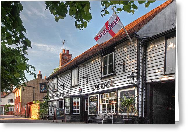 Old Inns Greeting Cards - Lets Meet For A Beer - King William IV Pub  Greeting Card by Gill Billington