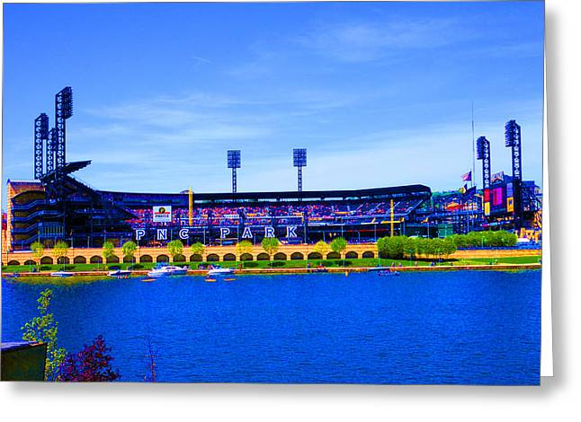 Pnc Park Digital Art Greeting Cards - Lets Play Ball  Greeting Card by Joseph Wiegand