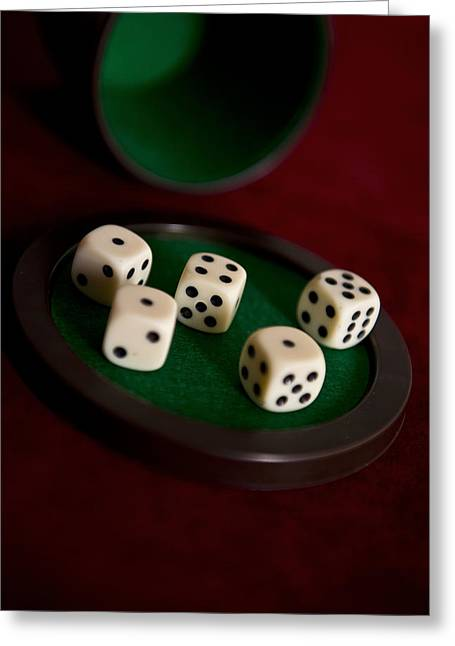 Plastic Solution Greeting Cards - Lets play dice Greeting Card by Jaroslaw Blaminsky