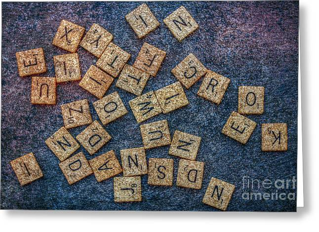 Board Game Greeting Cards - Lets Play Scrabble Greeting Card by Randy Steele