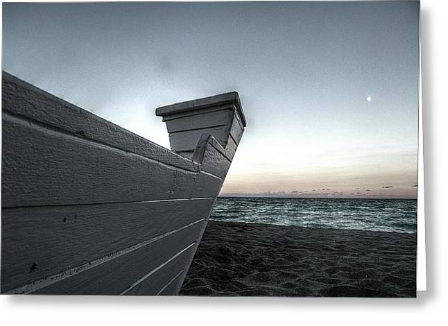 Let's Sail To The Moon Greeting Card by Richard Reeve