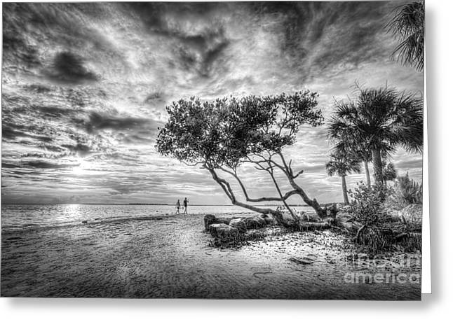 Let's Stay Here Forever Bw Greeting Card by Marvin Spates
