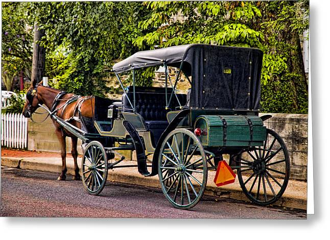 Horse And Buggy Greeting Cards - Lets Take A Ride Greeting Card by Robert Culver