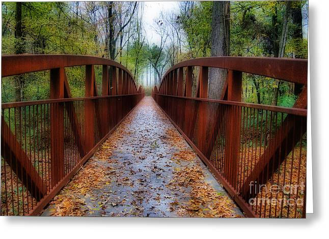 Lets Take A Walk Greeting Card by Skip Willits