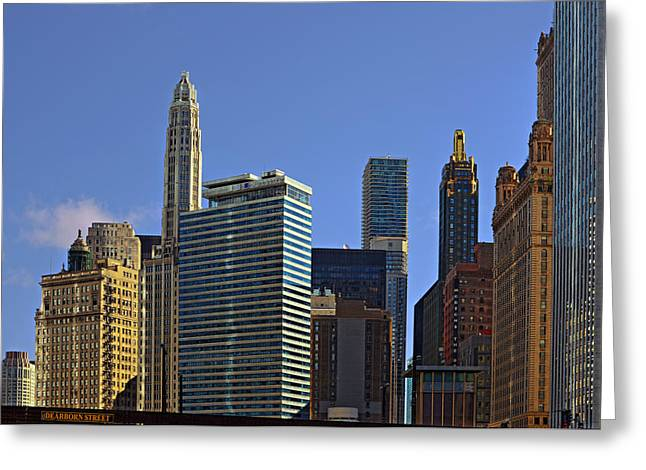 Interior Scene Photographs Greeting Cards - Lets talk Chicago Greeting Card by Christine Till