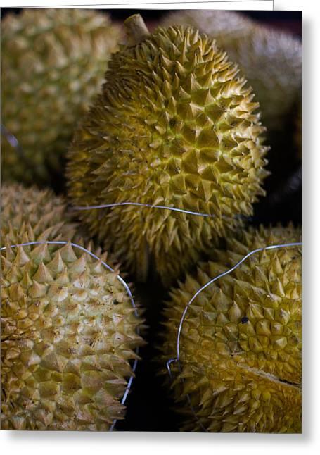 Durian Greeting Cards - Lets taste Greeting Card by Marta Grabska-Press
