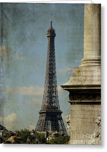 Written French Greeting Cards - Letter from Paris Greeting Card by Ivy Ho