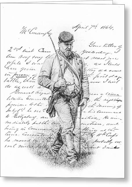 Soldiers From The Civil War Greeting Cards - Letter from the Front Greeting Card by Randy Steele