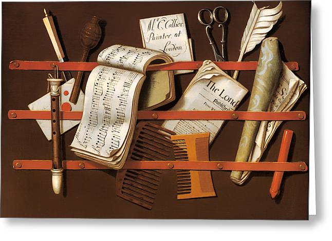 Scissors Greeting Cards - Letter Rack Greeting Card by Edward Collier
