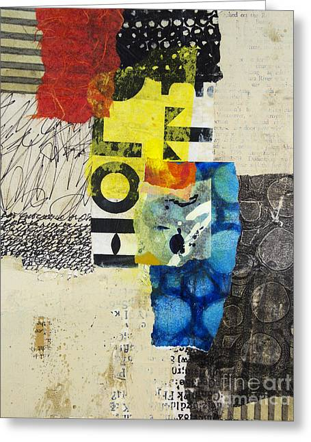 Geometric Art Greeting Cards - Letter to myself Greeting Card by Elena Nosyreva