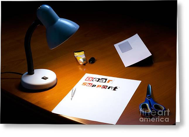 Consultant Office Greeting Cards - Letter to support Greeting Card by Sinisa Botas