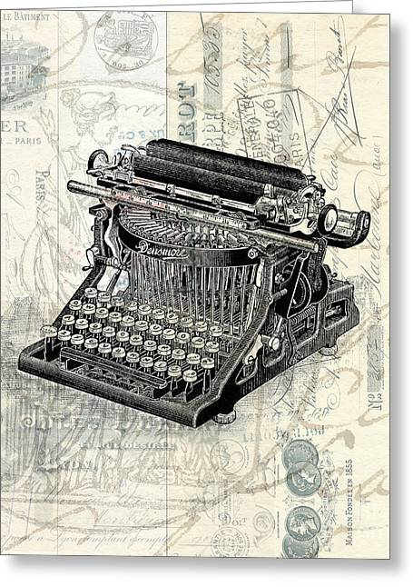 Typewriter Greeting Cards - Letters from Paris Greeting Card by Edward Fielding
