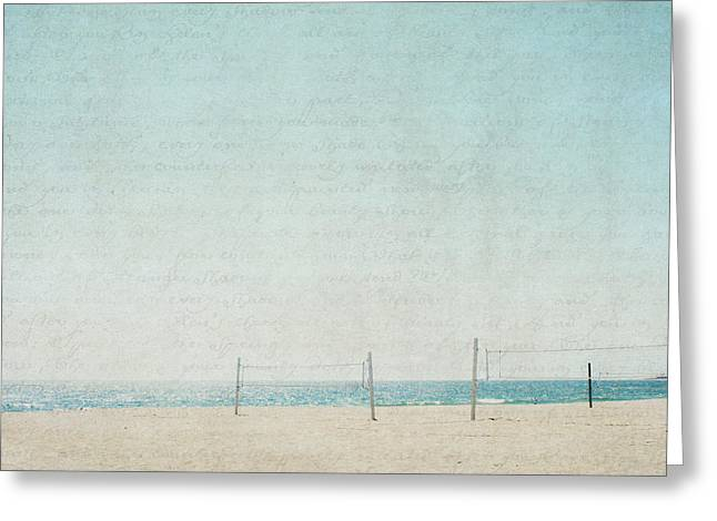 Ventura California Greeting Cards - Letters From The Beach - Square Greeting Card by Lisa Parrish