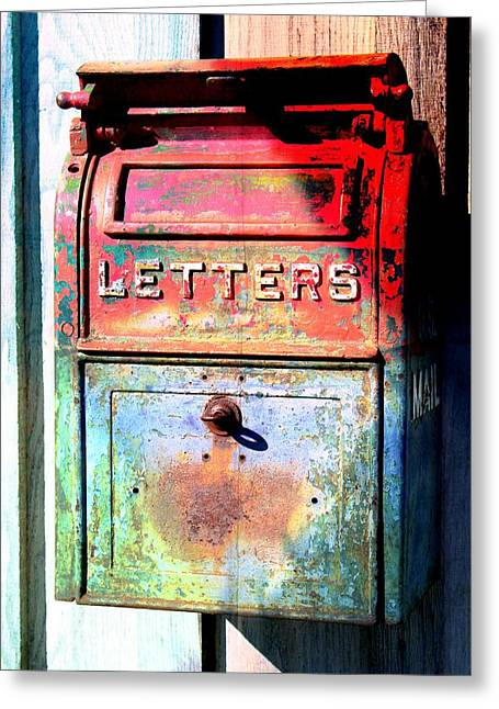 Postal Mixed Media Greeting Cards - Letters Greeting Card by Karyn Robinson