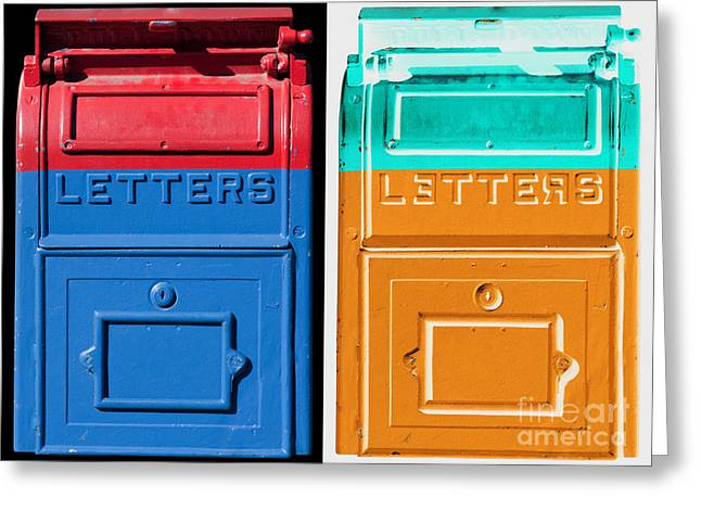 Mail Greeting Cards - Letters Letters Greeting Card by Dan Holm