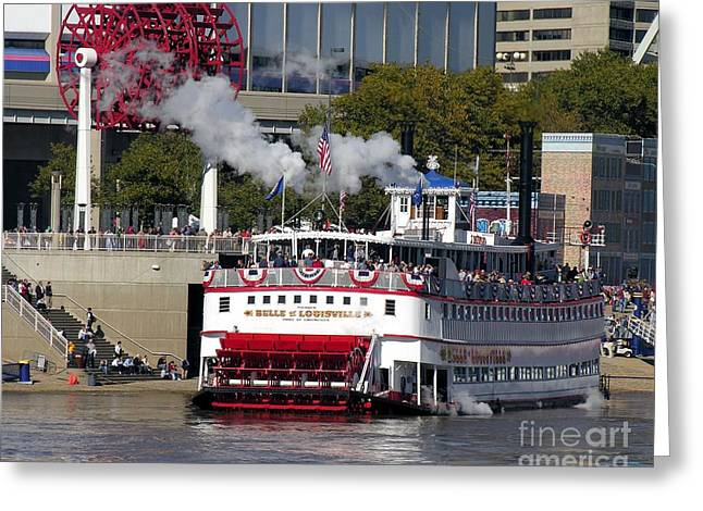 Steamboat Greeting Cards - Letting Off Steam Greeting Card by Mel Steinhauer