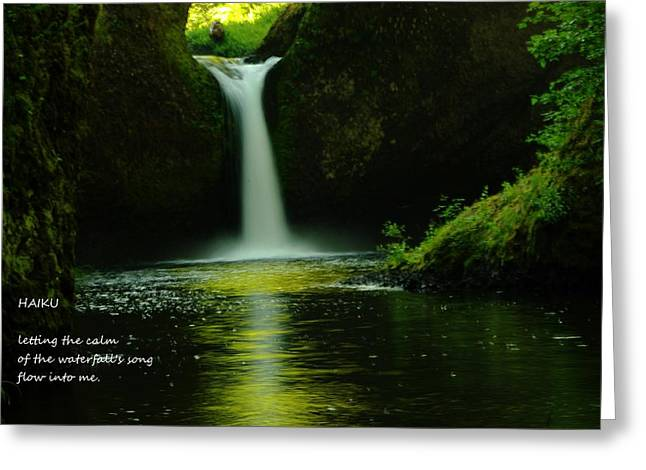 Plunging Greeting Cards - Letting The Calm Greeting Card by Jeff  Swan