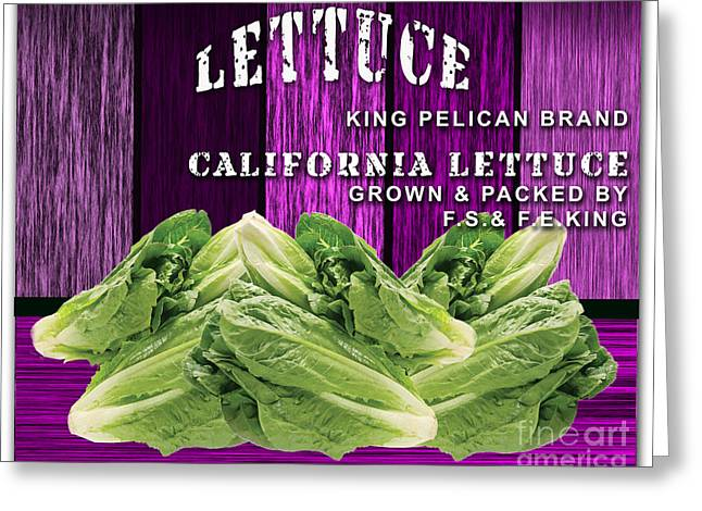 Lettuce Farm Greeting Card by Marvin Blaine
