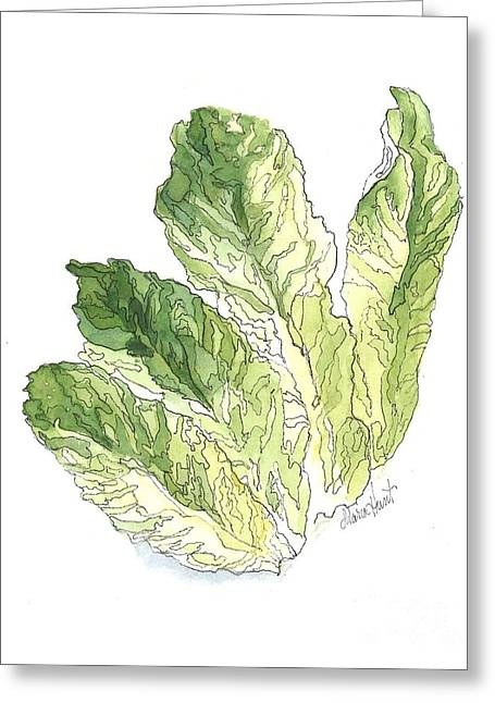 Lettuce Greeting Cards - Lettuce Rejoice Greeting Card by Maria Hunt